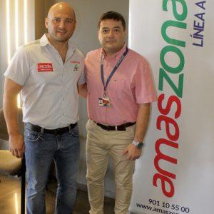 Marco Delgado y Luiggi Durán, gerente regional Amaszonas